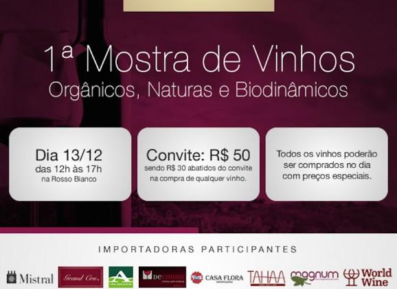 Dia 13/12 tem feira de vinhos orgânicos, naturais e biodinâmicos em Jundiaí