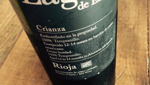 Lagar de Eizaga Rioja Crianza 2012